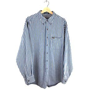 Chaps Ralph Lauren 90's Striped Blue Button Front